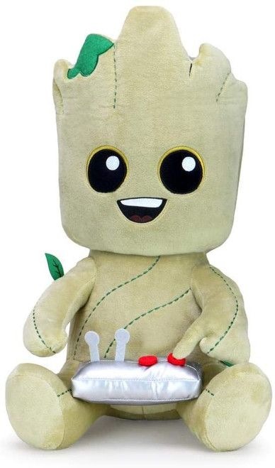 Marvel Guardians of the Galaxy Phunny Groot with Button Plush [HugMe, Vibrates!]