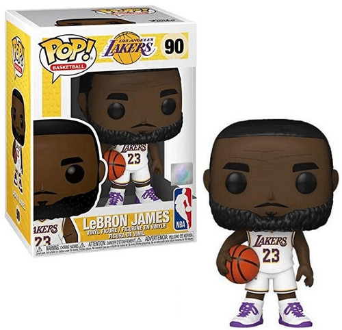 Funko NBA LA Lakers POP! Sports Basketball LeBron James Vinyl Figure #90 [White Uniform]