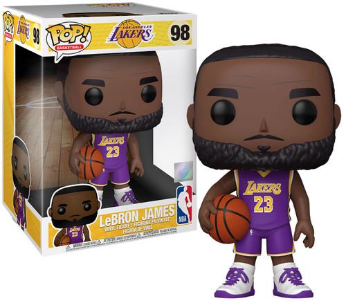 Funko LA Lakers POP! NBA LeBron James 10-Inch Vinyl Figure [Purple Jersey]