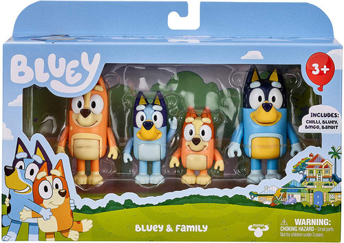 Bluey & Family Mini Figure 4-Pack [Bluey, Bingo, Mum & Dad] (Pre-Order ships November)