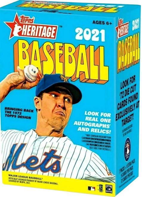 MLB Topps 2021 Heritage Baseball Trading Card BLASTER Box [7 Packs + 1 Extra Pack]