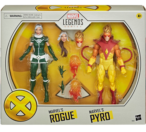Marvel X-Men Legends 20th Anniversary Pyro & Rogue Action Figure 2-Pack