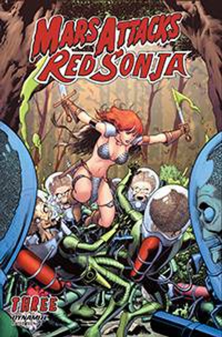 Dynamite Entertainment Mars Attacks Red Sonja #3 Comic Book [Cover C Kitson]