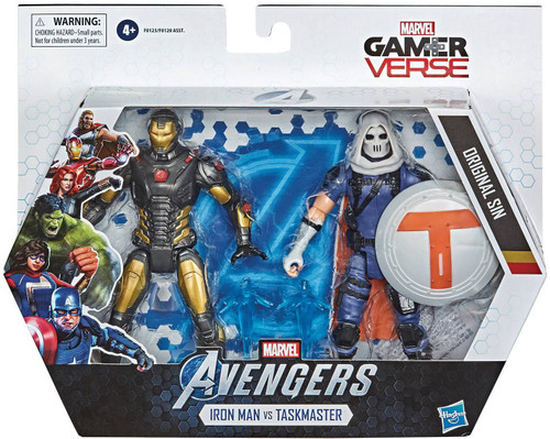 Marvel Avengers Video Game Gamerverse Iron Man & Task Master Action Figure 2-Pack