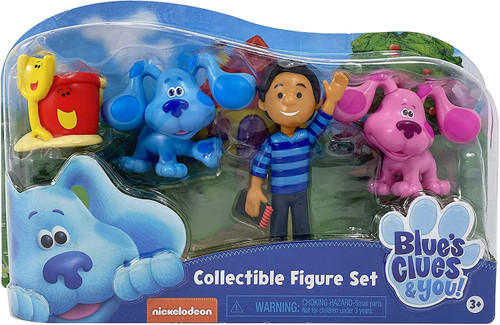 Blue's Clues & You! Blue, Magenta, Josh, Shovel & Pail Collectible Figure 4-Pack Set