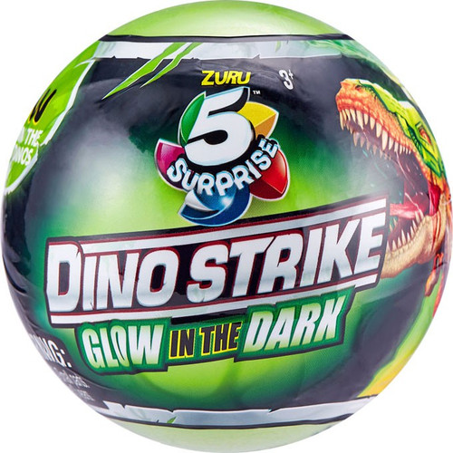 5 Surprise Dino Strike Series 2 Glow-in-the-Dark Mystery Pack
