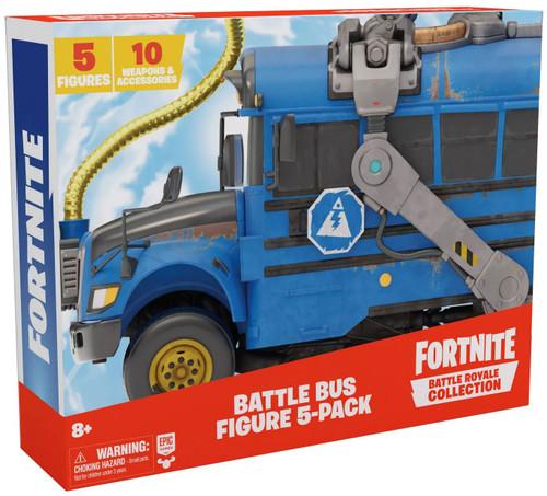 Fortnite Epic Games Battle Royale Collection Battle Bus 2-Inch Mini Figure 5-Pack