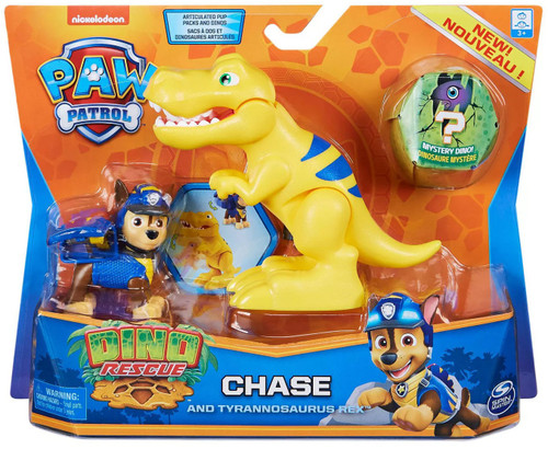 Paw Patrol Dino Rescue Chase & Tyrannosaurus Rex Figure Set