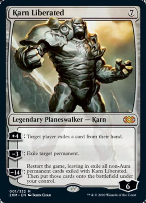 MtG Double Masters Mythic Rare Karn Liberated #1
