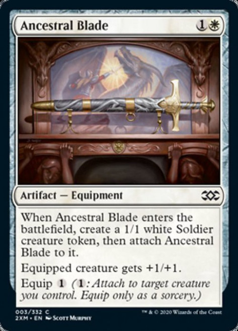 MtG Double Masters Common Ancestral Blade #3
