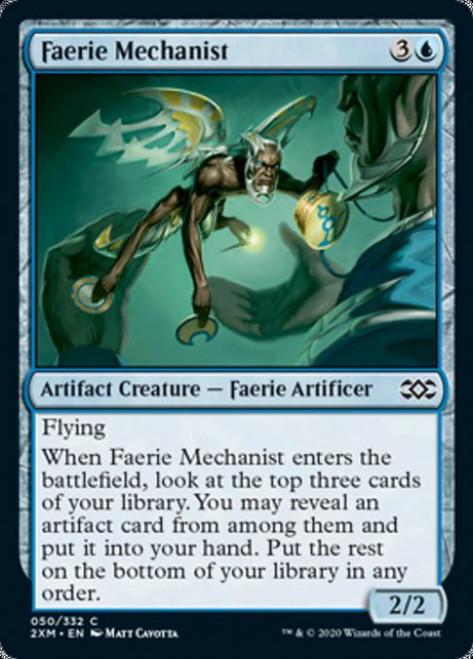 MtG Double Masters Common Faerie Mechanist #50