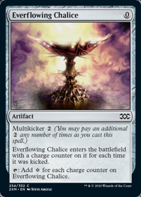 MtG Double Masters Common Everflowing Chalice #254