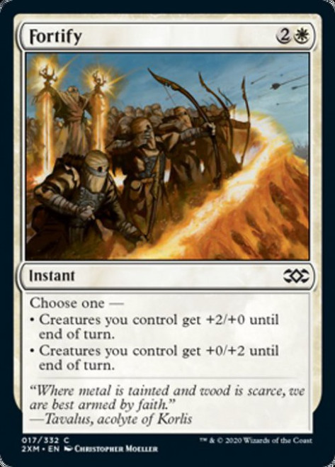 MtG Double Masters Common Foil Fortify #17