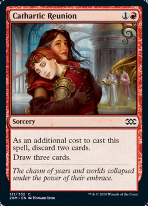 MtG Double Masters Common Foil Cathartic Reunion #121