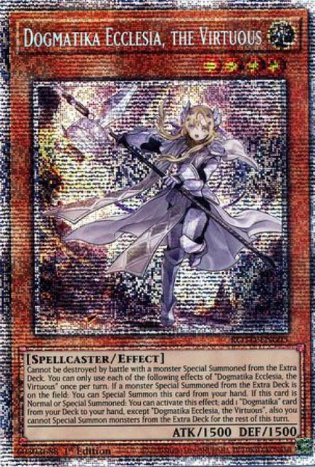 YuGiOh Rise of the Duelist Starlight Rare Dogmatika Ecclesia, the Virtuous ROTD-EN005
