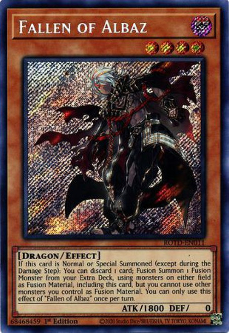 YuGiOh Rise of the Duelist Secret Rare Fallen of Albaz ROTD-EN011