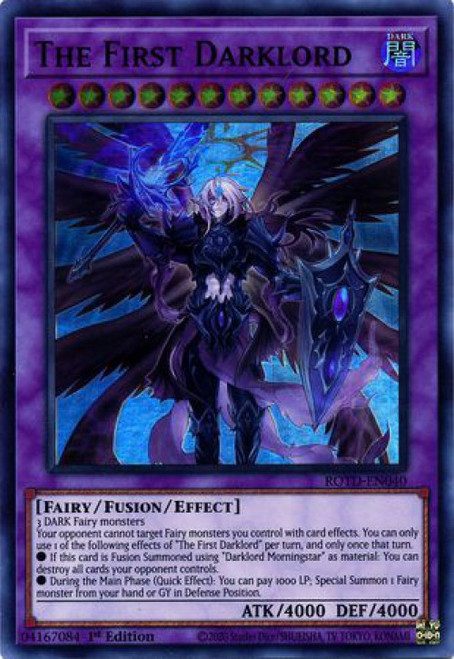 YuGiOh Rise of the Duelist Super Rare The First Darklord ROTD-EN040