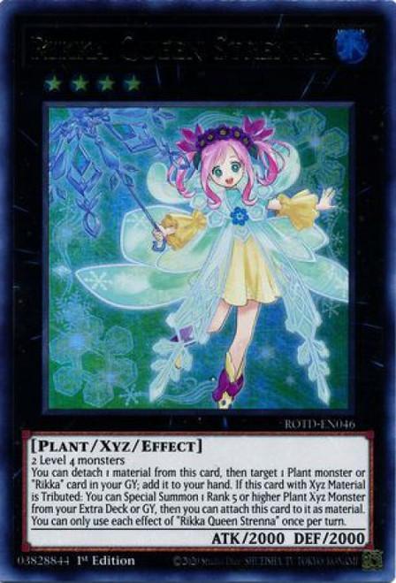 YuGiOh Rise of the Duelist Ultra Rare Rikka Queen Strenna ROTD-EN046
