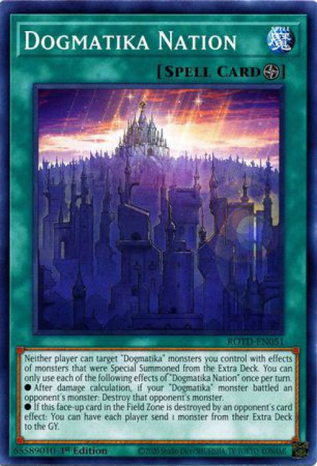 YuGiOh Rise of the Duelist Common Dogmatika Nation ROTD-EN051
