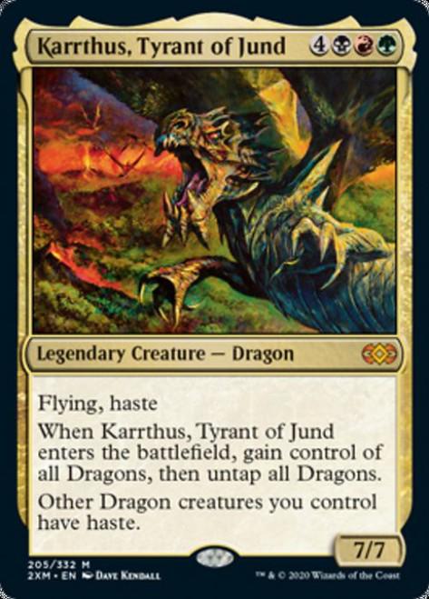 MtG Double Masters Mythic Rare Karrthus, Tyrant of Jund #205