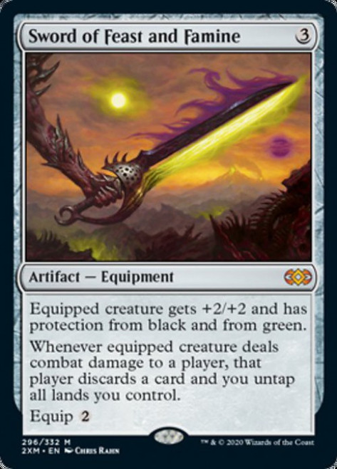 MtG Double Masters Mythic Rare Sword of Feast and Famine #296