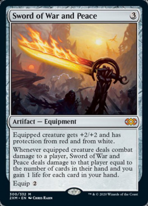 MtG Double Masters Mythic Rare Sword of War and Peace #300