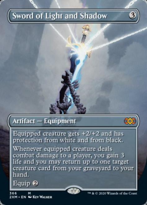 MtG Double Masters Mythic Rare Sword of Light and Shadow #366 [Alternate Art Borderless]