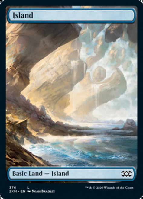 X2 *FOIL* Full Art Island ~ Double Masters ~ Magic the Gathering ~ Unhinged Art
