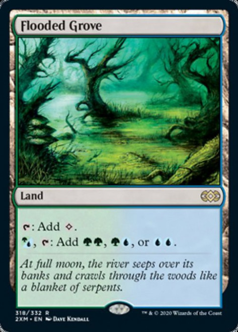 MtG Double Masters Rare Foil Flooded Grove #318