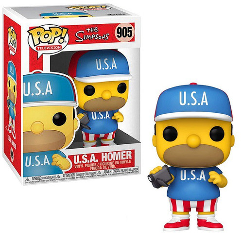 Funko The Simpsons POP! Animation USA Homer Vinyl Figure #900