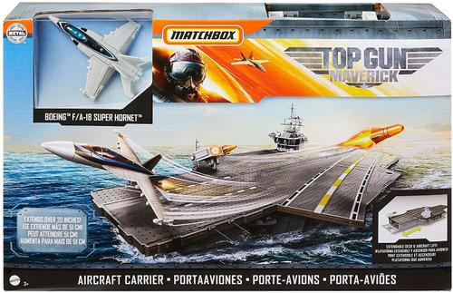 Matchbox Top Gun Maverick Aircraft Carrier Playset