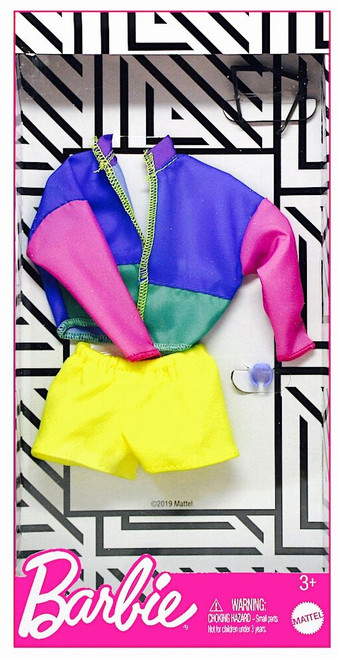 Barbie Complete Look Multi-Colored Jacked & Yellow Shorts Fashion Pack