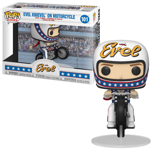 Funko POP! Rides Evel Knievel on Motorcycle Vinyl Figure #101