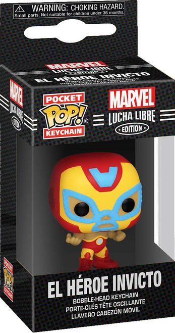 Funko Marvel Luchadores Pocket POP! El Heroe Invicto Keychain [Iron Man]