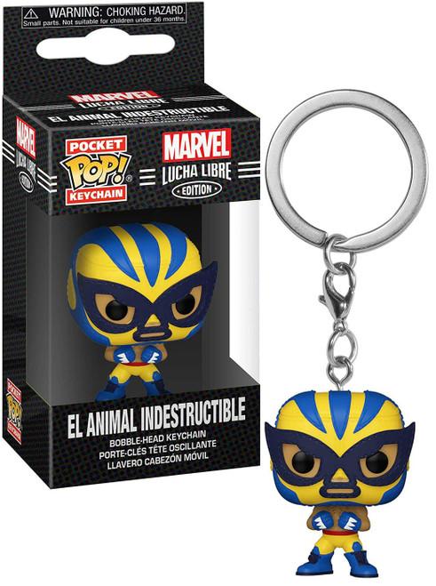 Funko Marvel Luchadores Pocket POP! El Animal Indestructible Keychain [Wolverine]