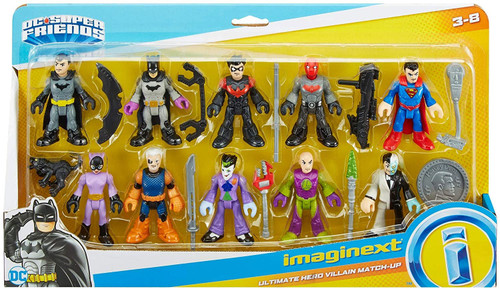 Fisher Price DC Super Friends Imaginext Ultimate Hero Villain Match-Up Exclusive Figure Set