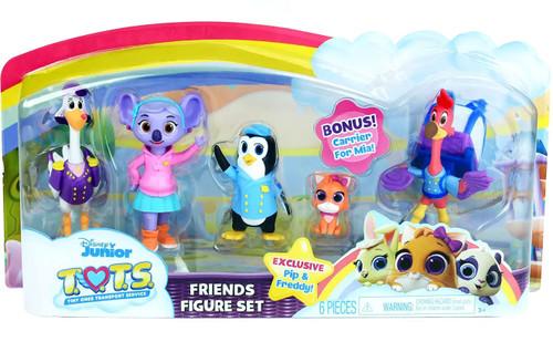 Disney Junior TOTS (Tiny Ones Transport Service) Friends 5-Figure Set [Pip, Freddy, Mia, KC & Captain Beakman]