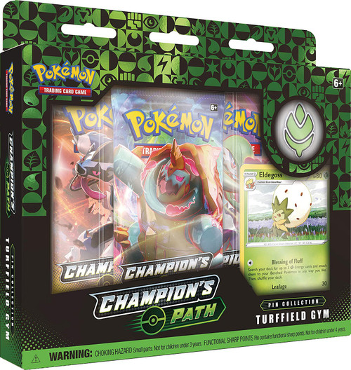 Pokemon Trading Card Game Champion's Path Turffield Gym Pin Collection [3 Booster Packs, Promo Card & Pin!]