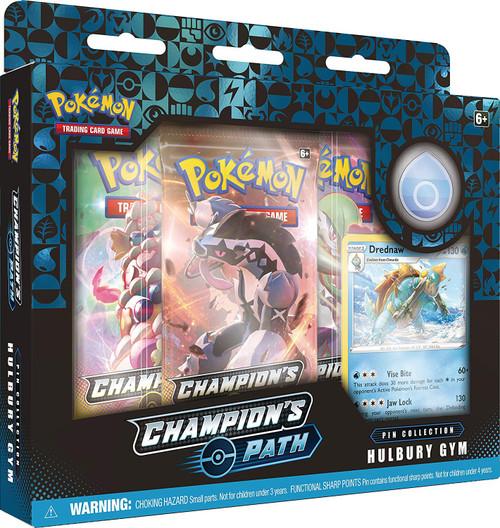 Pokemon Trading Card Game Champion's Path Hulbury Gym Pin Collection [3 Booster Packs, Promo Card & Pin!]