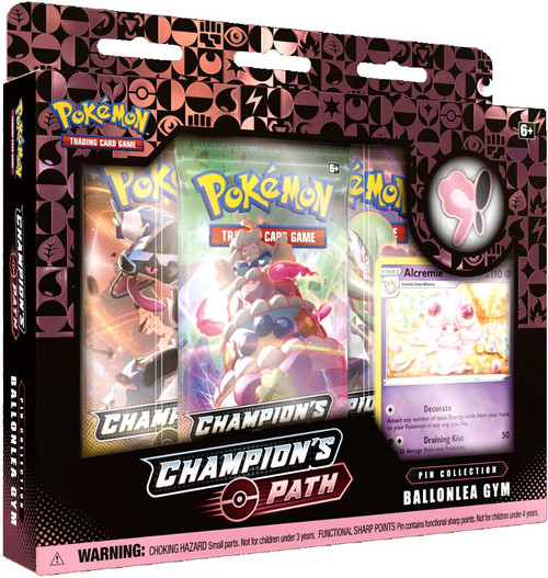 Pokemon Trading Card Game Champion's Path Ballonlea Gym Pin Collection [3 Booster Packs, Promo Card & Pin!]