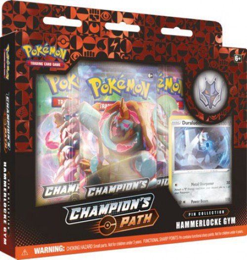 Pokemon Trading Card Game Champion's Path Hammerlocke Gym Pin Collection [3 Booster Packs, Promo Card & Pin!]