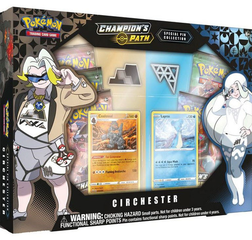 Pokemon Trading Card Game Champion's Path Circhester Special Pin Collection [5 Booster Packs, 2 Promo Cards & 2 Pins!]