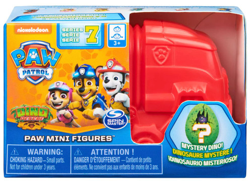Paw Patrol Dino Rescue Series 7 Paw Mini Figures Mystery Pack [RANDOM COLOR]