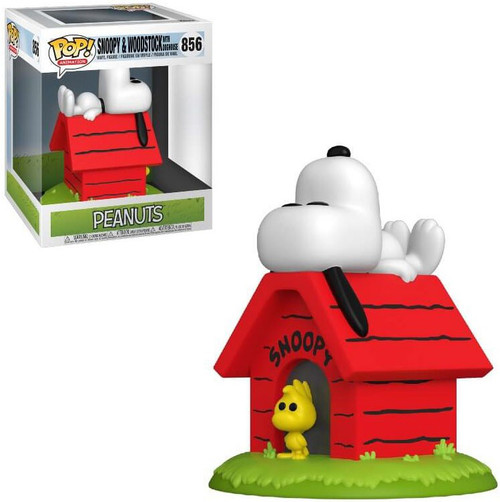 Funko Peanuts POP! Animation Snoopy & Woodstock with Doghouse 6-Inch Deluxe Vinyl Figure #856 (Pre-Order ships March)