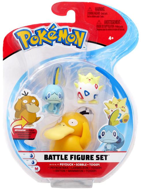 Pokemon Series 4 Battle Figure Psyduck, Sobble & Togepi 2-Inch Mini Figure 3-Pack