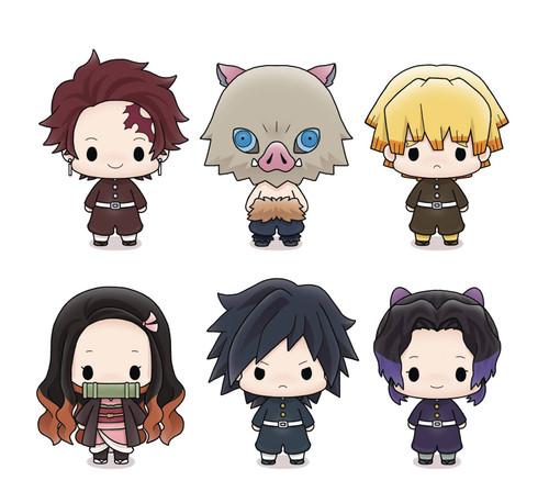 Demon Slayer: Kimetsu no Yaiba Tanjiro, Nezuko, Zenitsu, Inosuke, Giyuu & Shinobu 2-Inch 6 Mini Figure Display