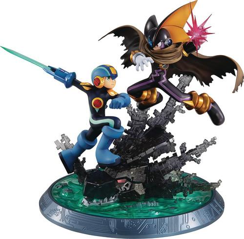 Mega Man Battle Network Game Character Collection DX Mega Man Vs. Bass 7.9-Inch Collectible PVC Figure (Pre-Order ships April)