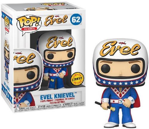 Funko POP! TV Evel Knievel Vinyl Figure #62 [Chase Version, Blue Jumpsuit & Helmet]