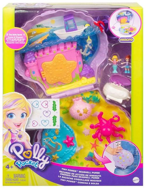 Polly Pocket Micro Tiny Power Seashell Purse Playset