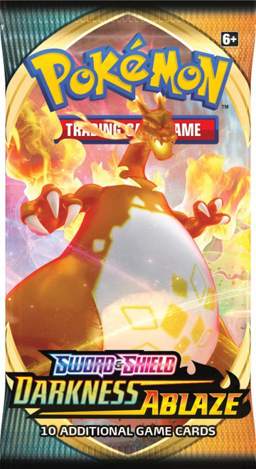 Pokemon Trading Card Game Sword & Shield Darkness Ablaze Booster Pack [10 Cards]